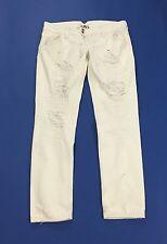 Cycle jeans donna skinny w29 tg 43 strappi usato hot vita bassa bianco T1311