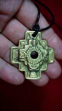 Peruvian Regulable Inca chakana necklace made in bronze