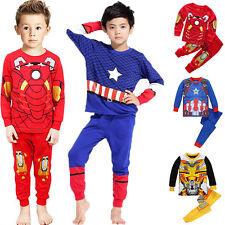 The Avengers Kinder Jungen Schlafanzug Langarm Pyjama Set Nachtwäsche Top + Hose