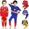 Kids Boys Pajama Outfits Sets Transformers Superhero Nightwear Pyjamas Sleepwear