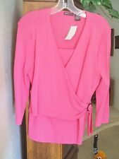 YARNS & STITCHES WOMENS SWEATER  PINK- SIZE -M  NWT !  MSRP: $64