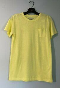 Crewcuts J.Crew Neon Yellow Boy's Cotton Polyester Crewneck Tee Shirt 14