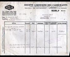 """LIMOGES (87) SOCIETE LIMOUSINE DES CARBURANTS """"SOLIC"""" en 1956"""