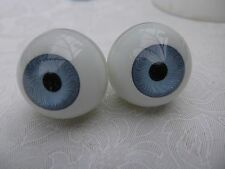 ROUND ACRYLIC DOLL EYES IN BLUE VARIOUS SIZES 8mm - 30mm