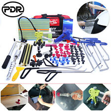 Paintless Dent Removal Repair Puller Lifter Hammer PDR Push Rods Tools Tail Set