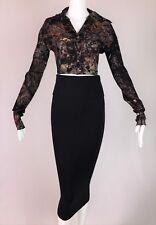 Vintage 1991 Dolce & Gabbana Pin-Up Crop Top High Waist Mini Skirt Set