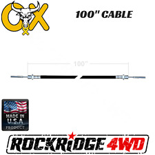 "100"" OX LOCKER CABLE ASSEMBLY W/ JAMB NUT FOR JEEP 4X4 WRANGLER OFFROAD"