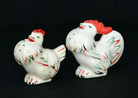 Vintage Rooster and Hen Chicken Salt and Pepper Shakers Japan