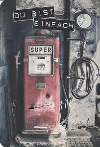 Postkarte: Alte Tanksäule