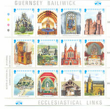 Guernsey Christmas issue mnh Churches-religion