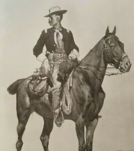 LIEUTENANT S C ROBERTSON Chief of the Crow Scouts by Frederic Remington Print