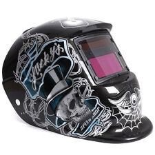 Maschera di saldatura casco solare automatico cranio a ragno-cranio nero N6 A8M5