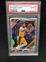 2019 Panini Donruss Optic Anthony Davis 90 Fanatics Silver Wave Prizm PSA 10 Z12