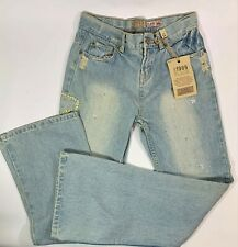 1989 Place Jeans Girls Size 14 Embellished Flare Adjustable Waist New