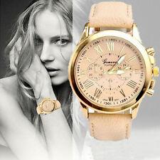 Ladies Fashion Gold Geneva Platinum Quartz Beige Faced Wrist Watch(Aussie)