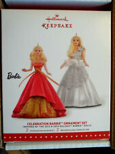 2015 Hallmark,Celebration Barbie Ornament Set,*Blow Out Price