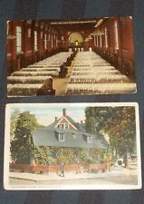 Connecticut 13 Postcard Lot Yale Dining Hall Early Street Scene Many Cities