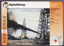 SPINDLETOP Texas Oil Strike 1901 Photo GROLIER STORY OF AMERICA CARD