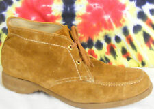 sz 9 A vintage 60's tan suede leather HY-TEST FASHION FLAIR steel-toe work boots