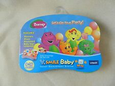 V.Smile Baby Game Cartridge(Smartridge)-New,Sealed-Barney Let's Go to a Party!