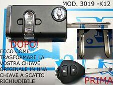 Chiave guscio cover richiudibile per telecomando TOYOTA YARIS 2011 A SCATTO NERA