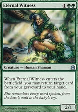 Testimone Eterna - Eternal Witness MTG MAGIC Com Commander Italian