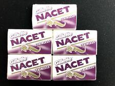 25 Gillette NACET Stainless Double Edge Razor Blades for Shaving