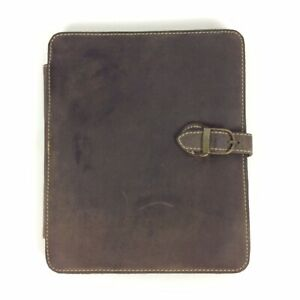 Canyon Outback Tablet E-Reader Holder Organizer Brown Distressed Leather