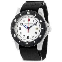 Victorinox Swiss Army White Dial Black Nylon Men'S Watch 2416761