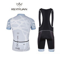 Men's Bike Clothing Reflective Bicycle Jersey and Cycling Bib Shorts Coolmax Kit