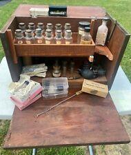 Antique Vintage Pharmaceutical Salesman Sample Doctor Apothecary Kit