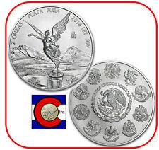 2014 Mexico Libertad 2 oz BU Silver Coin in plastic airtite -- key date