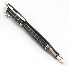 New BAOER 79 Star Cross Line Fountain Pen Silver Trim