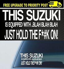 Suzuki 4x4 funny car Decal Sticker