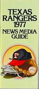 1977 Texas Rangers Baseball News Media Guide