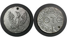Ote Regime of the Colonels Telecommunication Greek Token Telephone Coins Greece