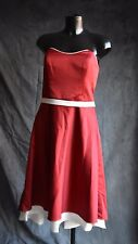 Party Prom Evening Cocktail Dress By Alfred Angelo Claret/Ivory size 14