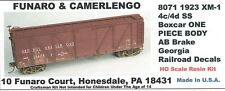 GEORGIA RR BOXCAR KIT 8071, GREAT DETAILS