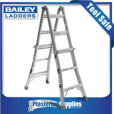 Bailey Ladders Multi Purpose Extendable Step Ladder Trade 135kg 2.3m/4.5m BXS20