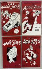Lot of 4 1970s Texas A&M University 101 Aggie Jokes Books Comics Gigem Press