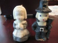 Vintage Pilgrim Set Thanksgiving Gurley Candles