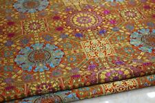 Brocade Fabric Mongolian Robe Jacquard Damask Tibetan Costume Material Sew Home