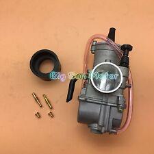 34mm Carburetor W Intake Manifold Needle Jet Kawasaki KX80 KX85 KX100 KX125 2825