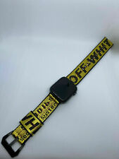 OFF WHITE LUXURY APPLE WATCH BAND 38mm/40mm/42mm/44mm Yellow & Black