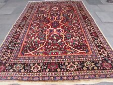 Antique Shabby Chic Hand Made Vintage Oriental Red Wool Rug Carpet 320x220cm