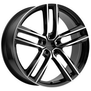 "Milanni 475 Clutch 20x10.5 5x4.5"" +42mm Black/Machined Wheel Rim 20"" Inch"