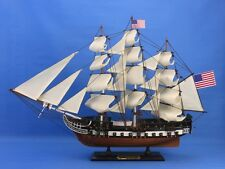 "Handcrafted Wooden USS CONSTITUTION TALL MODEL SHIP 24"" OLD IRONSIDES 1:82 - NEW"