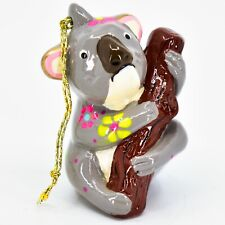 Handcrafted Painted Ceramic Koala Bear Confetti Ornament Made in Peru