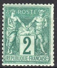 """FRANCE STAMP TIMBRE N° 74 """" TYPE SAGE 2c VERT 1876 """" NEUF xx TB A VOIR  M495"""