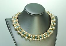 Leni Kuborn-Grothe Kitzbuhel 1950's Pearl Choker/Earrings Set